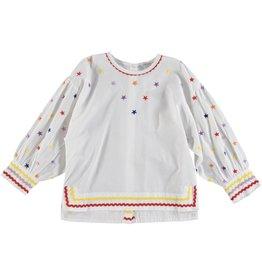 37518f3e19ce STELLA MCCARTNEY E19 kid girl multicolour embroidered stars ls blouse