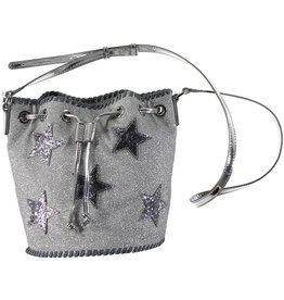 STELLA MCCARTNEY E19 glitter bucket bag