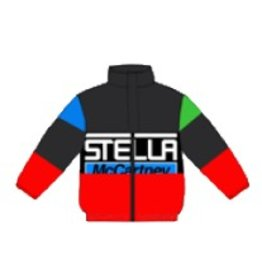 STELLA MCCARTNEY E19 kid boy water repellent logo zip jacket