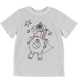 STELLA MCCARTNEY E19 kid unisex pig superhero ss tee