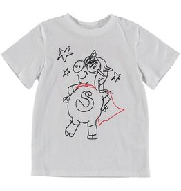 STELLA MCCARTNEY E19 kid unisex pig superhero ss tee