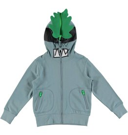 STELLA MCCARTNEY E19 kid boy face zip hoodie