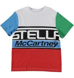 STELLA MCCARTNEY E19 kid boy Stella logo ss tee multic