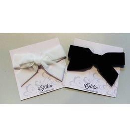 OLILIA Olilia -Velvet bow hair clip large