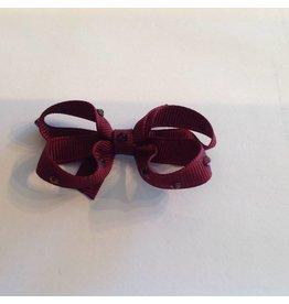 OLILIA Olilia -Small Bow with Crystals/Plaid hairclips