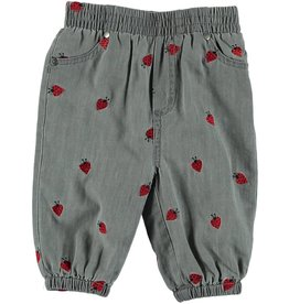 STELLA MCCARTNEY Stella McCartney BABY GIRL DENIM JOGGERS ALL OVER LADY BUGS