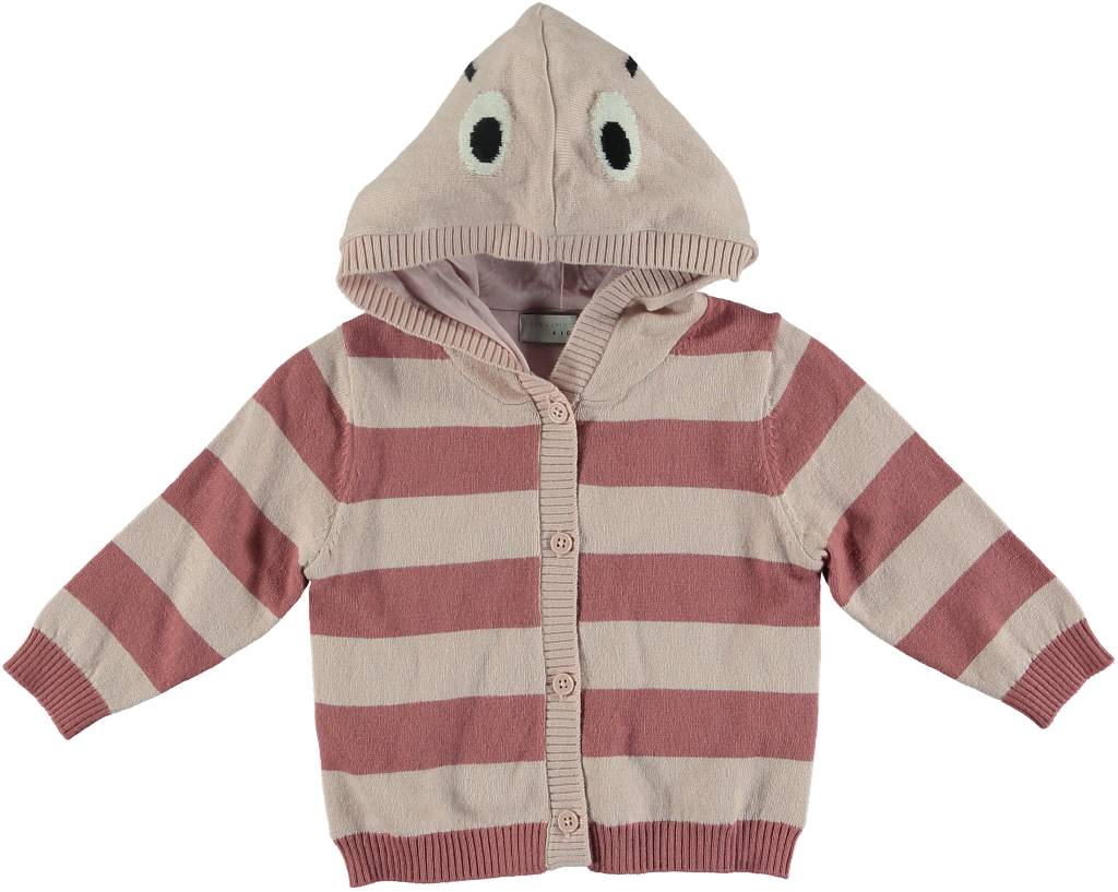 6bfed032e Stella McCartney BABY GIRL STRIPED LADY BUG CARDIGAN WITH HOOD ...