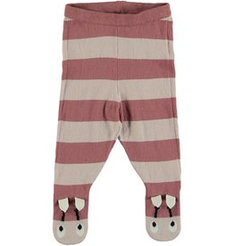 STELLA MCCARTNEY Stella McCartney BABY GIRL STRIPED FOOTED KNIT PANTS