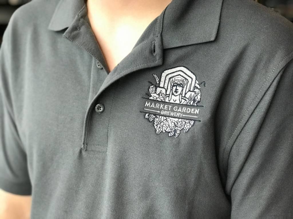 MGB Guardian Logo Polo, Charcoal S