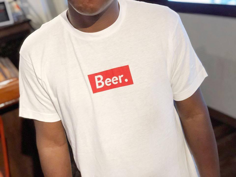 Beer. T-Shirt, White