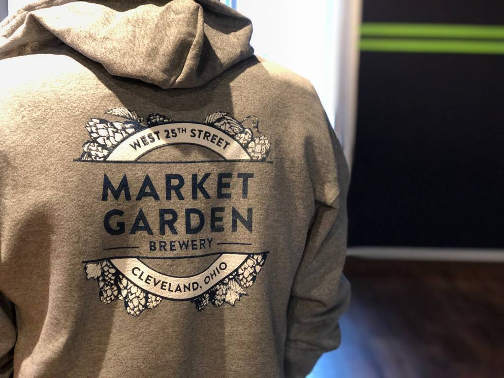 Grey MGB Zip-Up Hoodie