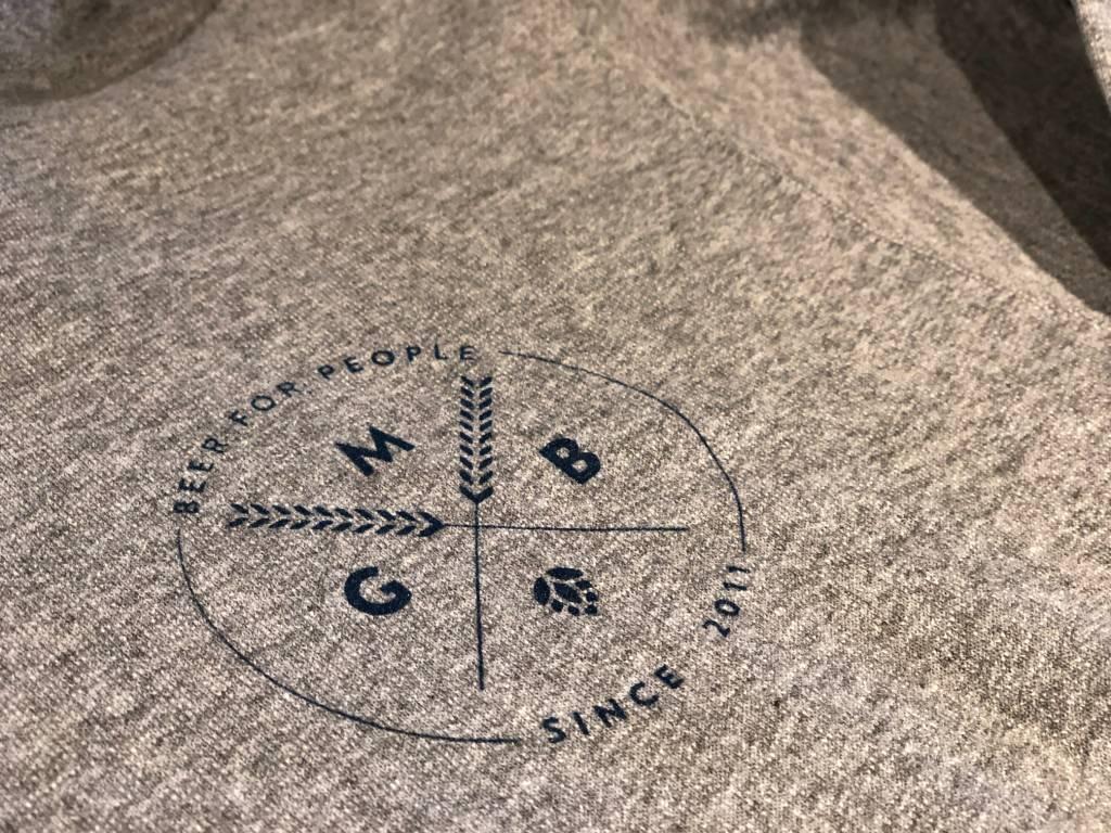 Grey MGB Zip-Up Hoodie