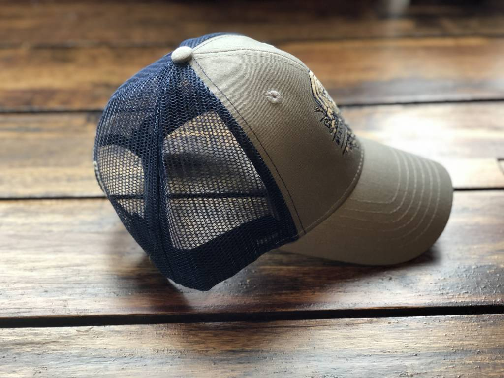 Grey Mesh Back Guardian Hat