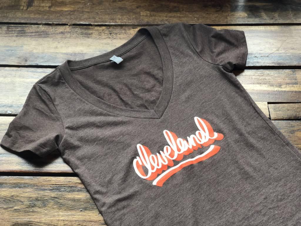 Cleveland Scripts Browns V-Neck (W)