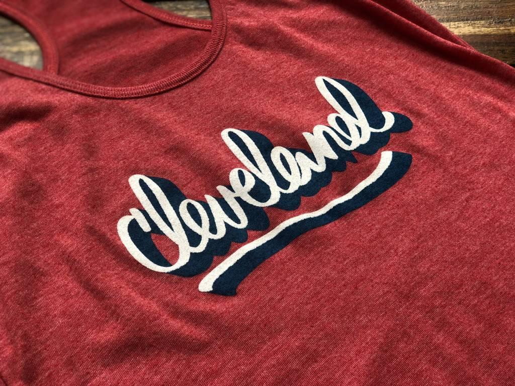 Cleveland Script Tank Red (w)