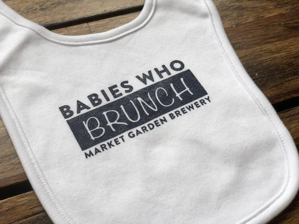 Babies Brunch Bib - White