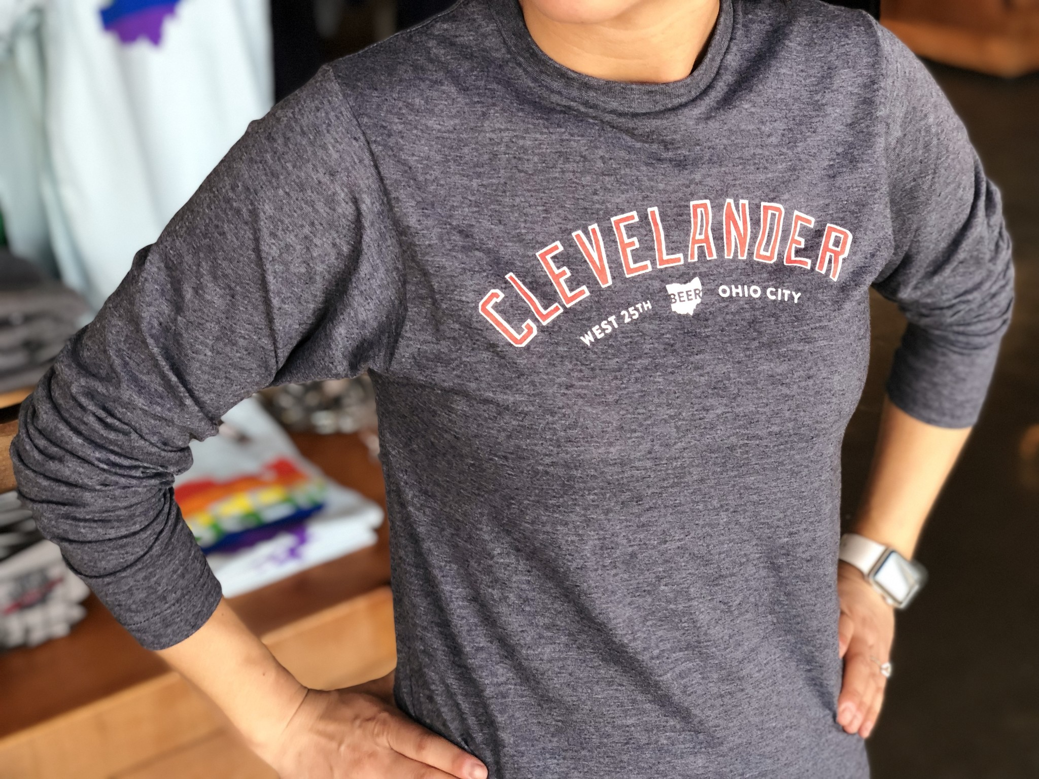 Heather Navy Clevelander Long Sleeve