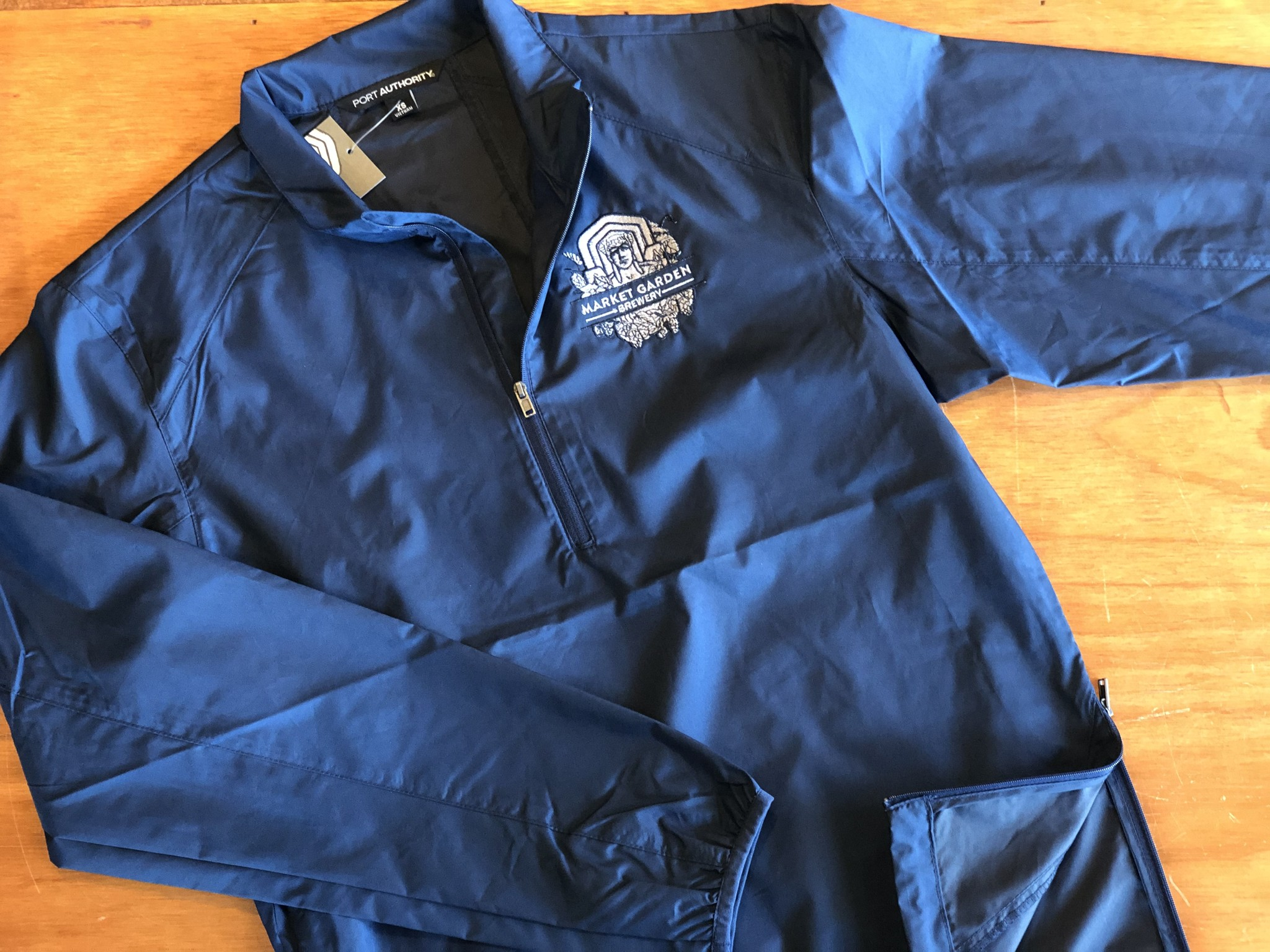 MGB Navy Half-Zip Windbreaker