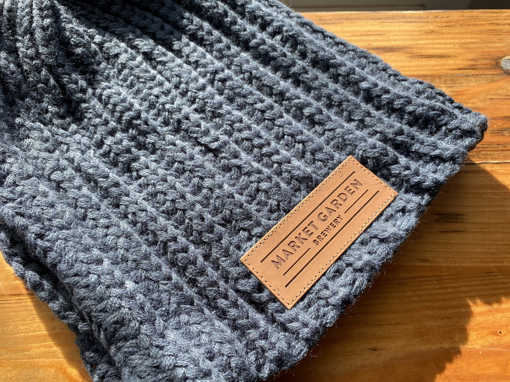 Market Garden Knit Beanie Charcoal