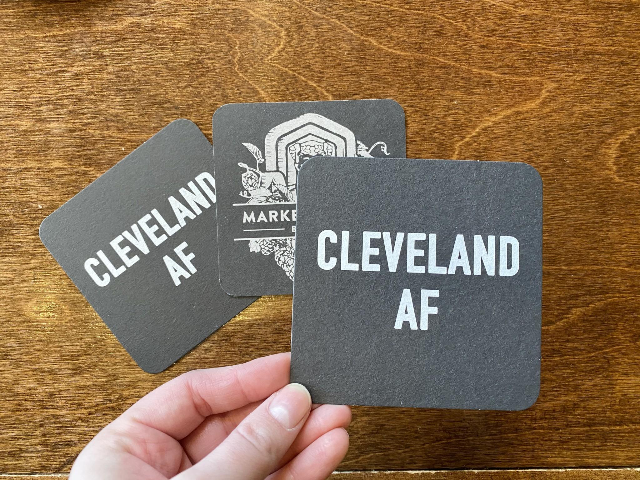 Cleveland AF coaster set (by emily roggenburk)