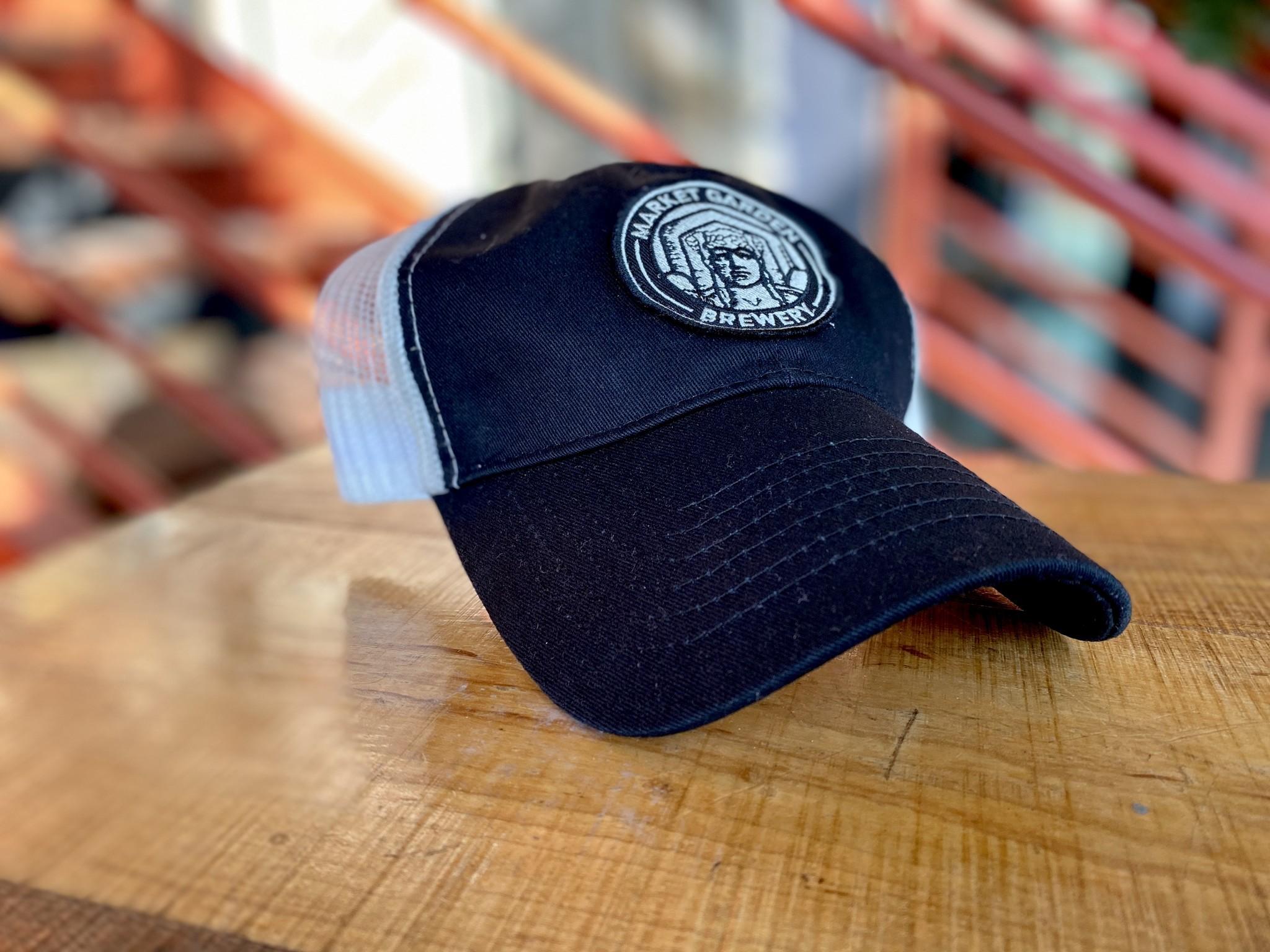 Black + White Mesh Back Hat
