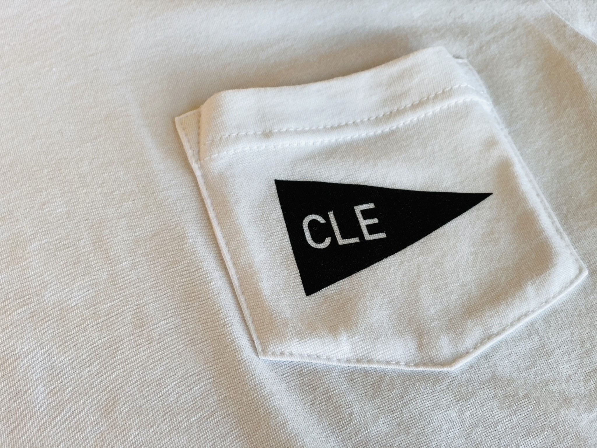 CLE Pennant T-Shirt (by emilyroggenburk)