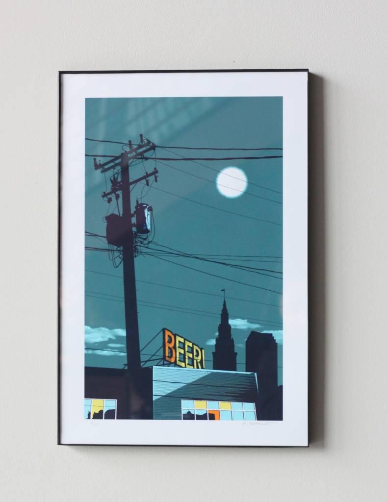 Ohio City Landmark Artist Print - Beer Sign