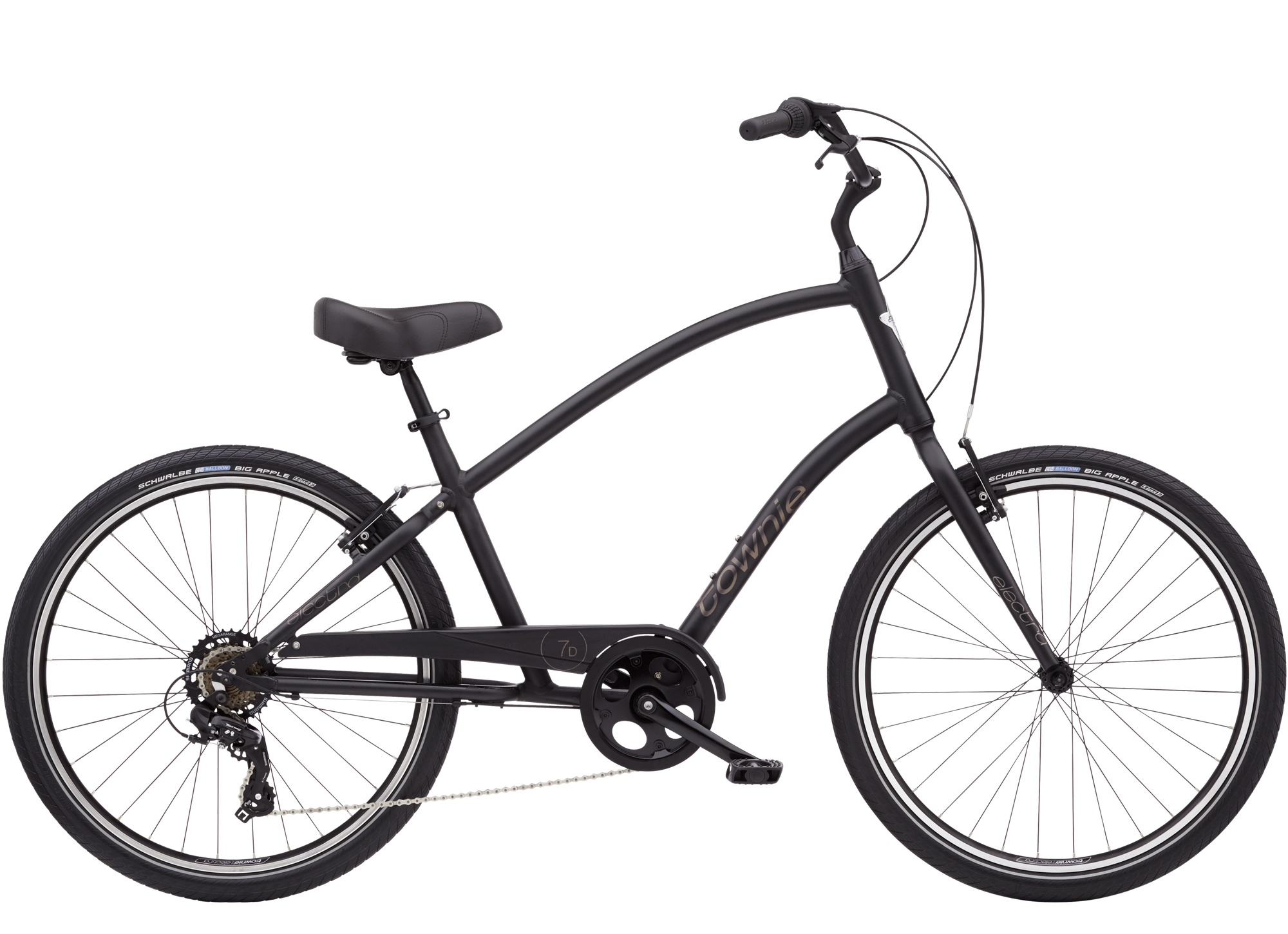 Townie 7D Step Over 26 Matte Black