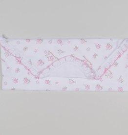Kissy Kissy White & Pink Owl Blanket