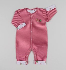 Kissy Kissy Red Stripe Reversible Playsuit