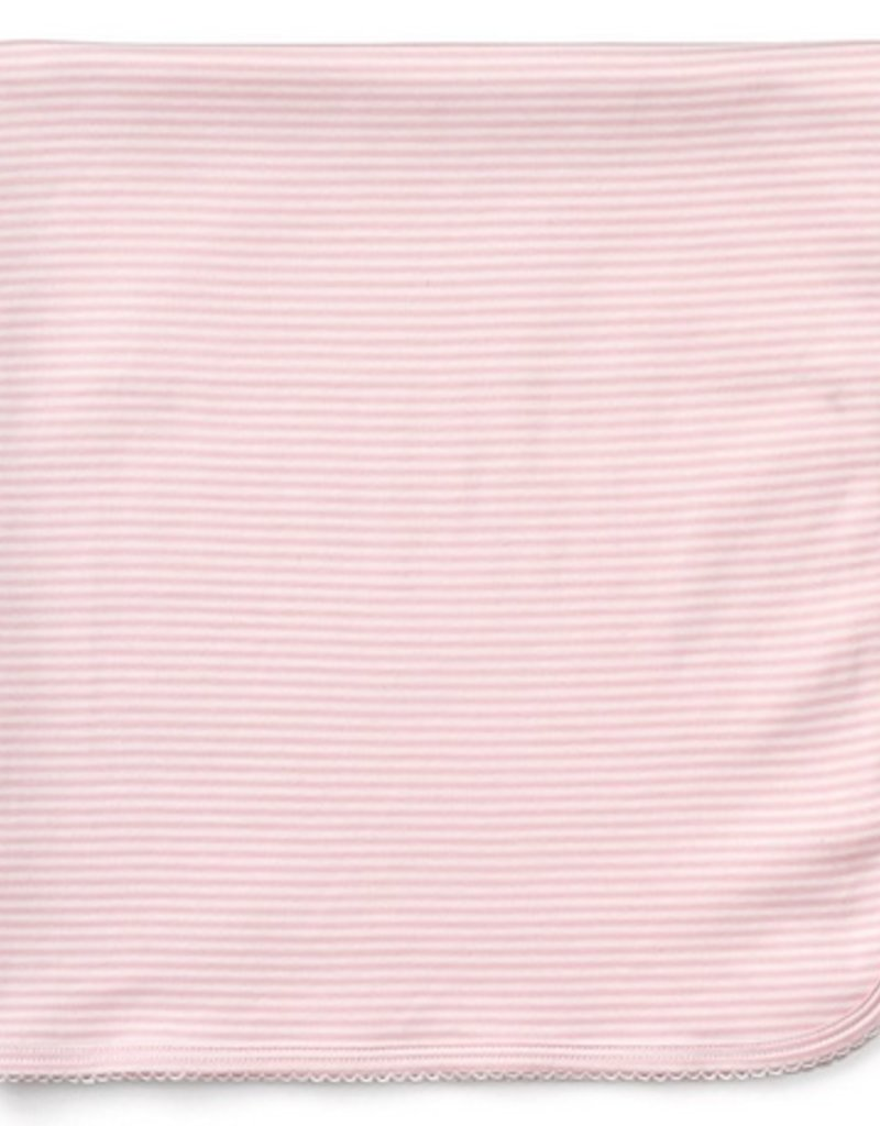 Kissy Kissy Stripe Blanket Pink