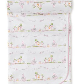 Kissy Kissy Noah's Print Blanket Pink