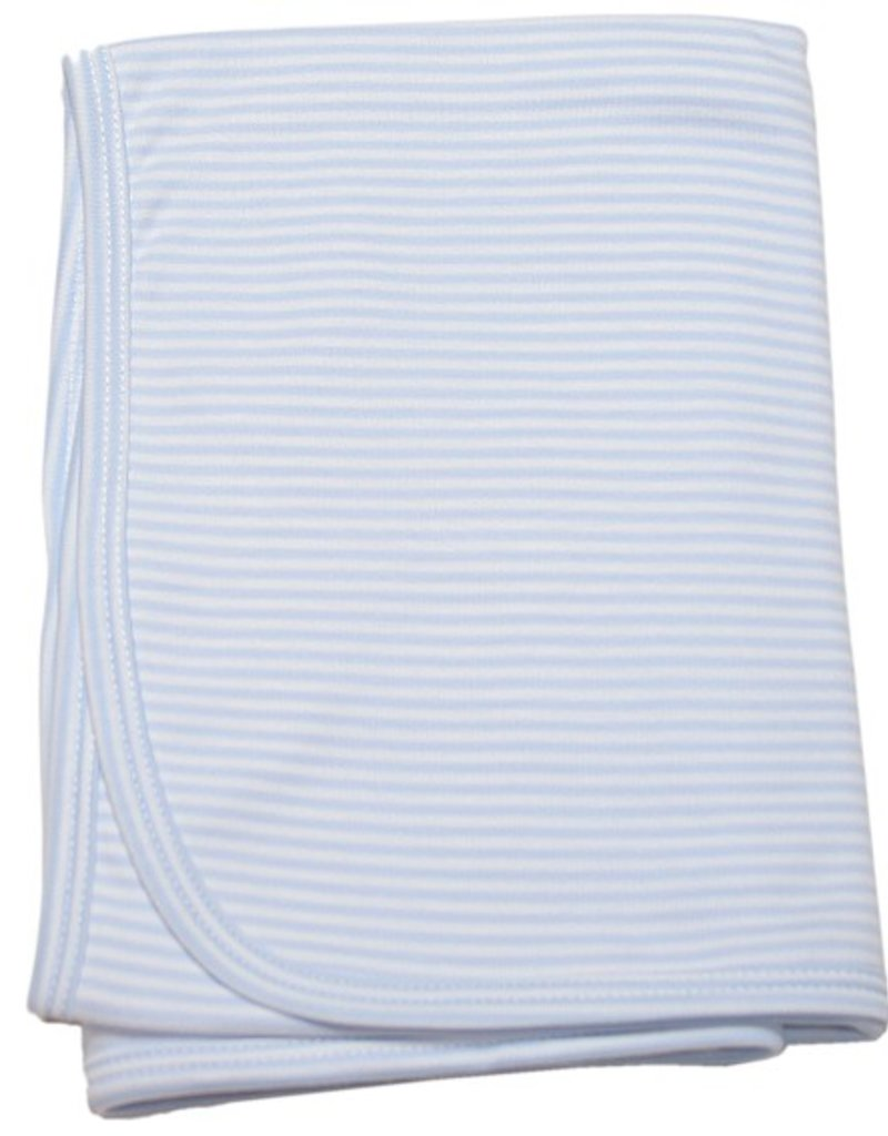 Kissy Kissy Stripe Blanket Blue