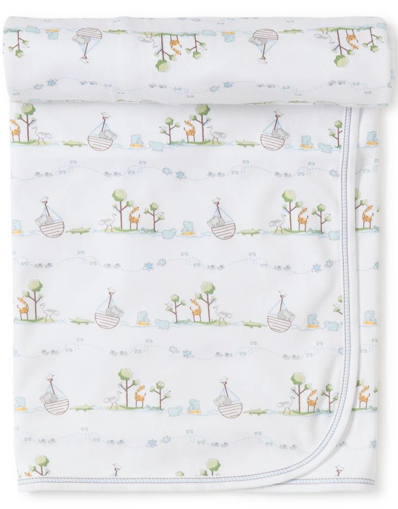 Kissy Kissy Noah's Print Blanket Blue