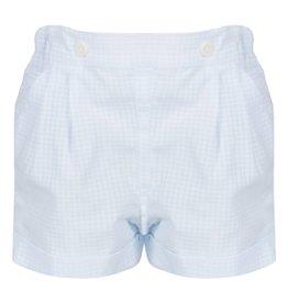 Patachou Baby Boy Blue Check Shorts