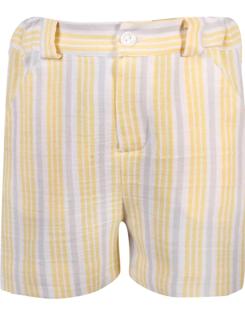 Patachou Boys Yellow & Grey Stripe Short