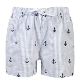 Patachou Boys Anchor Stripe Swim Shorts