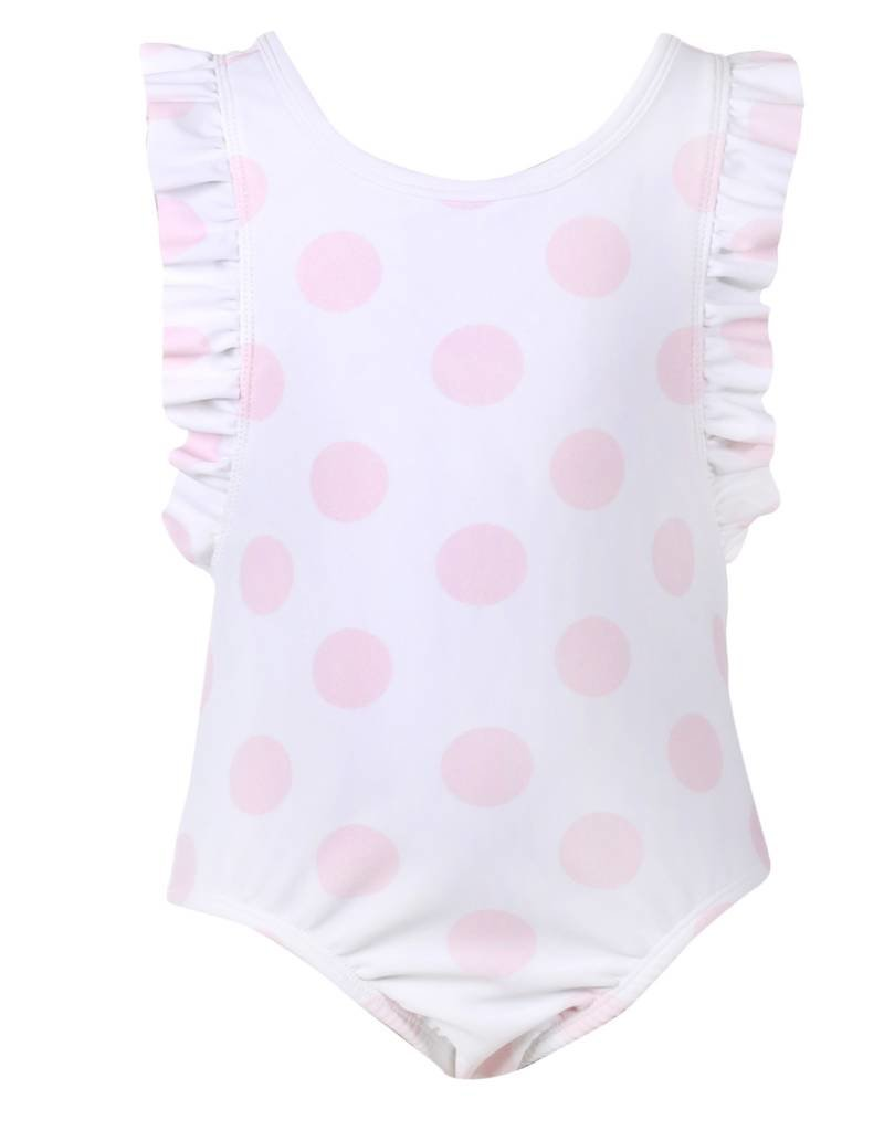 Patachou Girls Pink Dot Swimsuit