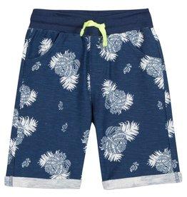 Navy & White Palm Shorts