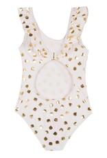 Lili Gaufrette Gold Leaf Swim Suit