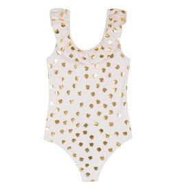 Lili Gaufrette Gold Leaf Swim Suit