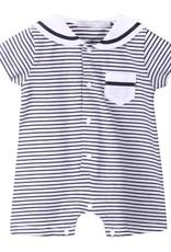 Patachou Boy Navy Stripe Romper