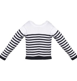 Patachou Boy Cotton Navy Stripe Sweater