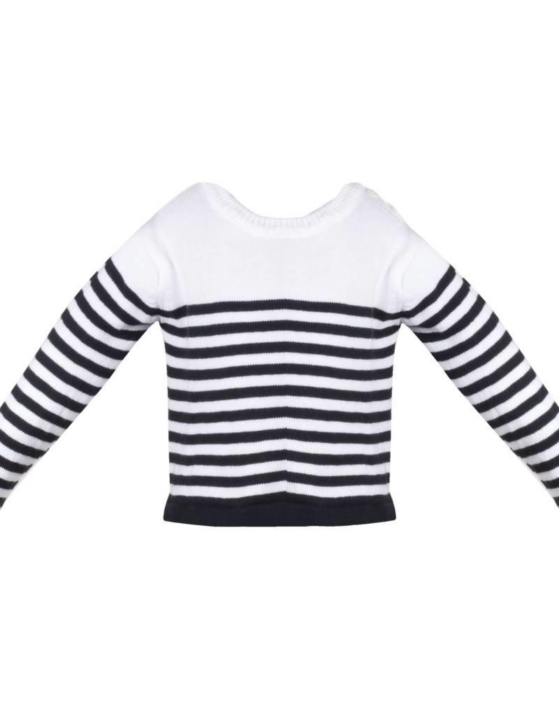 Patachou Boy Cotton Navy Stripe Sweater