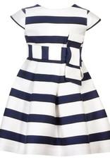 Patachou Girl Navy Stripe Dress