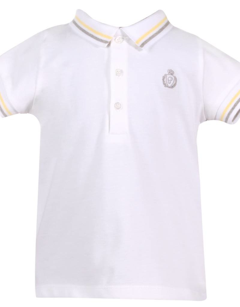 Patachou Polo with Yellow/Grey Stripe