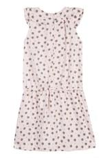 Lili Gaufrette Pink & Gold Leaf Dress