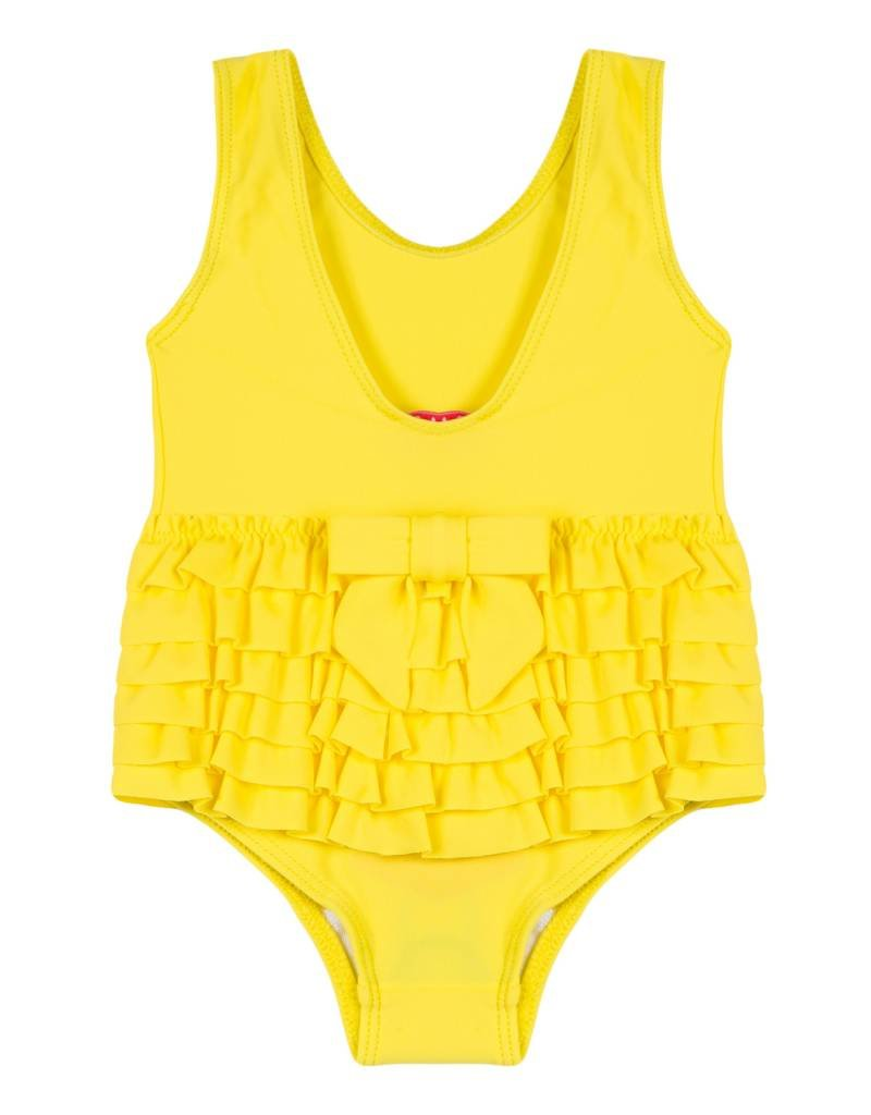 Lili Gaufrette Yellow Ruffle Swimsuit
