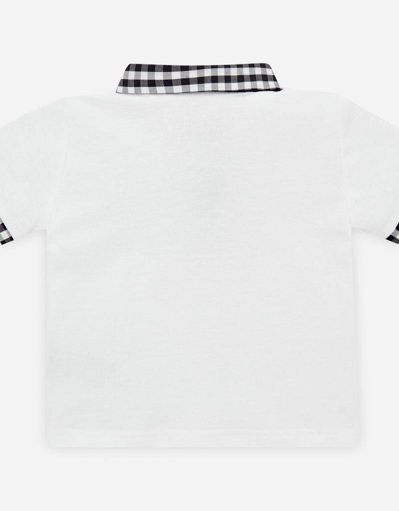 paz rodriguez Dark Grey Check Polo Set