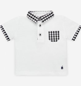 paz rodriguez Dark Grey Check Polo Set